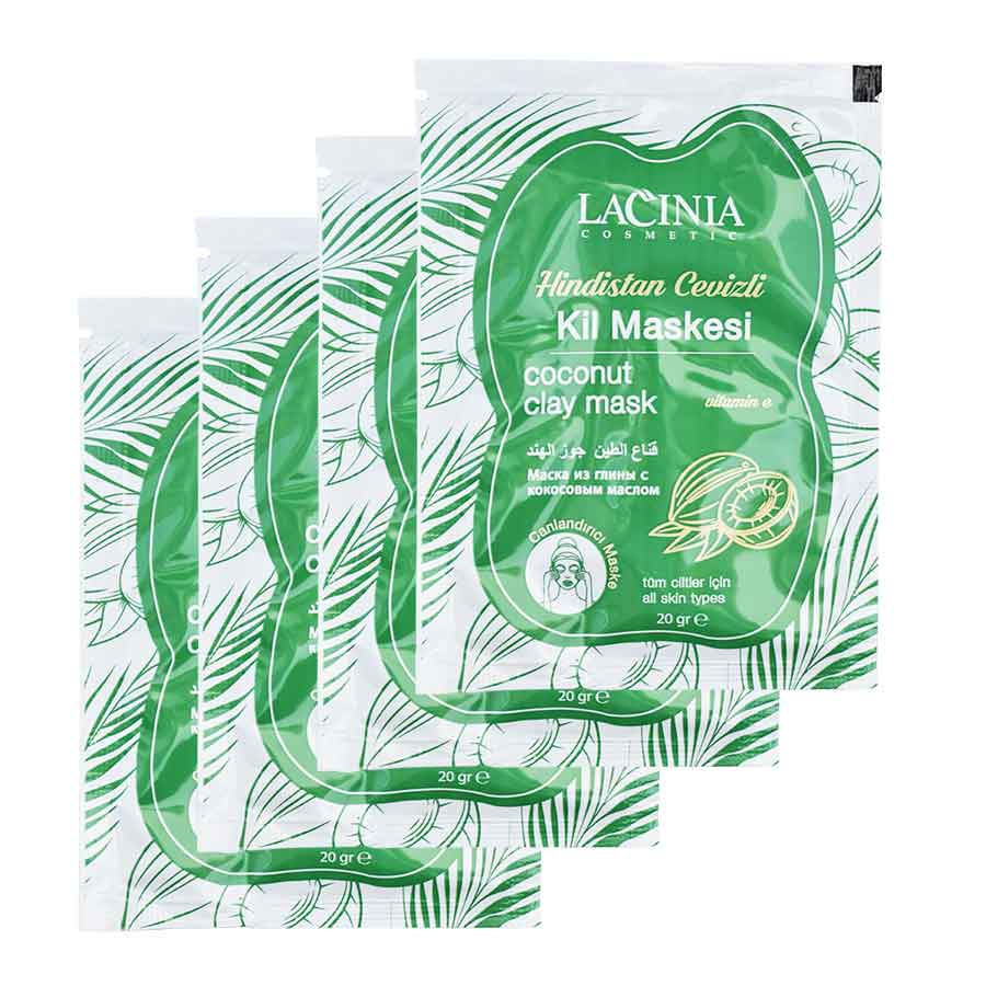 Pack view of Coconut oil clay face mask by lacinia