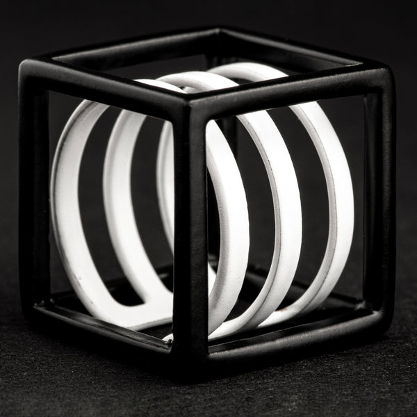 Sculptured Cube Ring