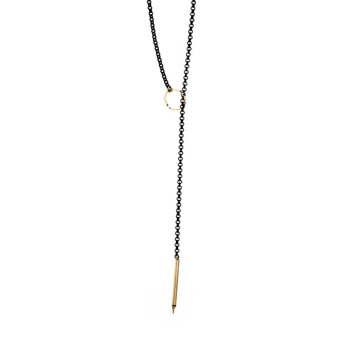 Gold Textured Lariat