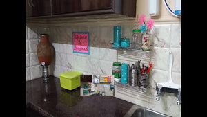 pratishthasingh how to #organize #kitchencountertop and make ur kitchen clutter free ,make space in small kitchen rectangular shelf