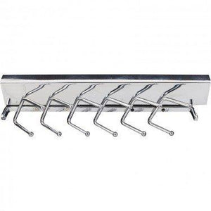 Deluxe Sliding Tie rack, Chrome, 12""