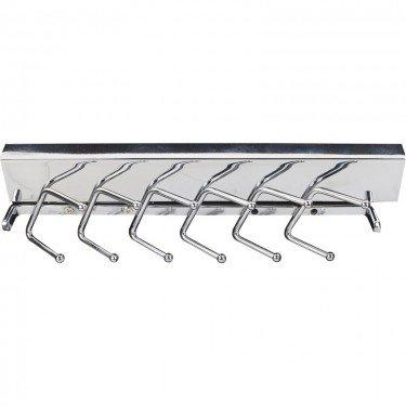 Deluxe Sliding Tie rack, Chrome, 12