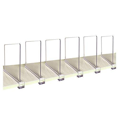 Top rated cy craft acrylic shelf divider wood shelf dividers clear closet shelf separators clothing organizer perfect for bedroom shelving organization and kitchen cabinet shelf storage 6 pcs