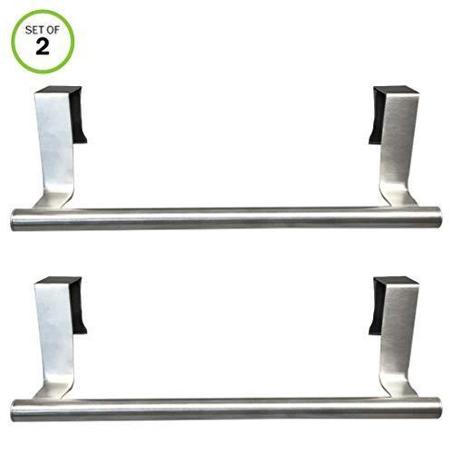 Best seller  evelots towel bars kitchen bathroom in or out cabinet door stainless set of 2