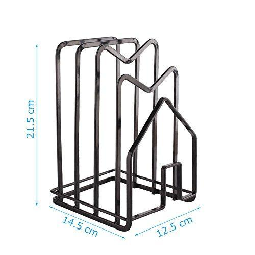 Results multifunctionpot lid shelf holder kitchen bakeware cover rack stand cutting board stand pan cover storage shelf