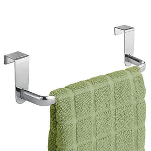 Home dulceny over the cabinet kitchen dish towel bar holder