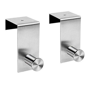 Discover the over the door hooks hanger towel rack 18 8 stainless steel multiple use z shaped hanging over door hooks use for kitchen bathroom bedroom office cabinet door storage organizer 2 pack