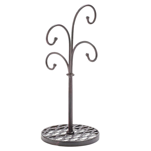 Order now red co curved tree 4 arm metal kitchen stand cups and mugs holder in mahogany finish 16