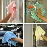 Shop for vibrawipe microfiber cloth pack of 8 pieces all blue microfiber cleaning cloths high absorbent lint free streak free for kitchen car windows