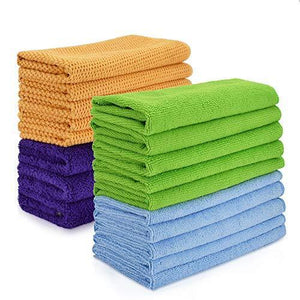 Get cleaning rags thmer 18 pcs microfiber cleaning cloths for kitchen car windows glass bathroom highly absorbent no fabric soft microfiber 12x16 inches