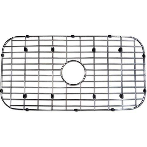 Top azhara azmlus773bg signature stainless kitchen sink grid stainless steel