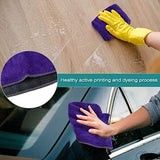 Heavy duty cleaning rags thmer 18 pcs microfiber cleaning cloths for kitchen car windows glass bathroom highly absorbent no fabric soft microfiber 12x16 inches