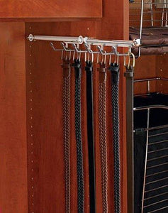 "Rev-A-Shelf 14"" Belt and Scarf Organizers, Chrome"