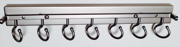 Deluxe Sliding Scarf Rack, Satin Nickel 14