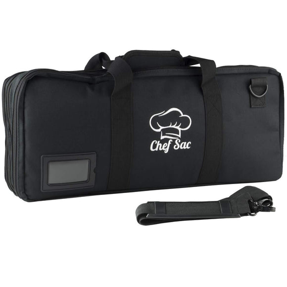 Buy chef knife case bag 3 compartments 20 slots for knives kitchen tools 10 zip pockets for tablet notebooks utensils executive chefs culinary students gift black