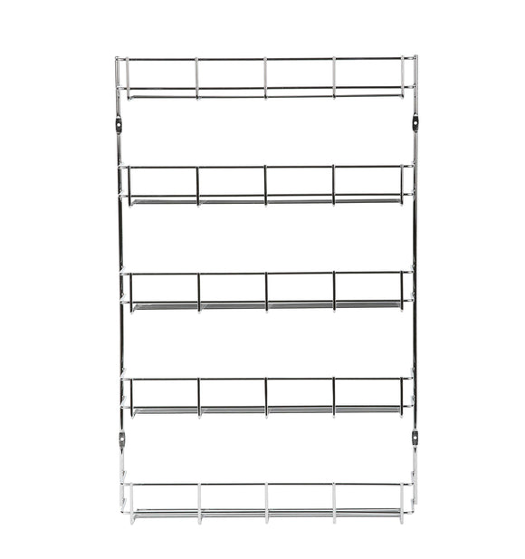 Budget friendly exerz herb and spice rack 5 tiers kitchen cabinet shelf organizer for jars perfect space saving and storage wall mountable or cupboard door fitting fixings included 5 tiers exsr004 5