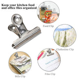 Shop chip clips bag clips food clips heavy duty stainless steel clips for bag food bag sealing clips all purpose air tight seal clip cubicle hooks for office school kitchen 18 pack 3 2 5 2