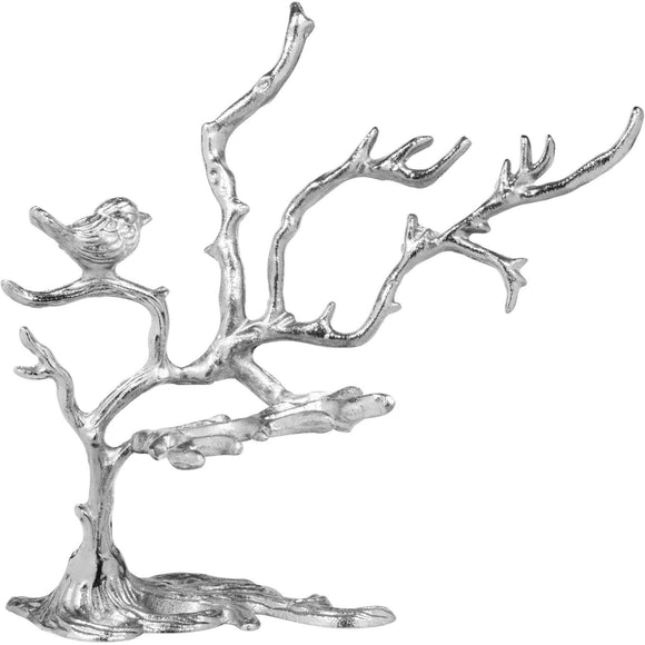 Home Essentials 61326-Nickel Alton Jewelry Tree and Bird, 12.5 Inch H