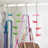 Louise Maelys 2 Packs 360 Degree Rotating Hanger Rack 4 Hooks Closet Organizer for Handbags, Scarves, Ties, Belts