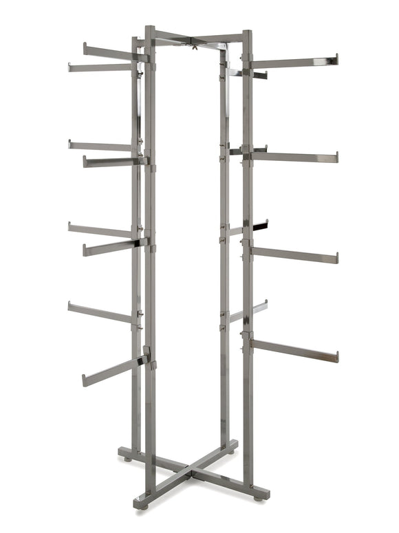 Econoco K36 Folding Lingerie Tower, Square Tubing with Rectangular Tubular Arms