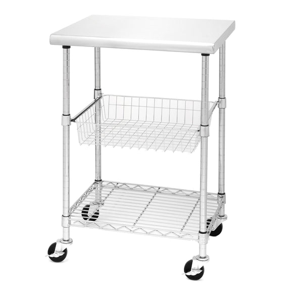 Home seville classics stainless steel nsf certified professional kitchen work table cart 24 w x 20 d x 36 h