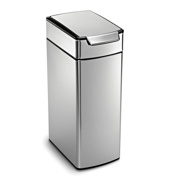 Discover the best simplehuman 40 liter 10 6 gallon stainless steel slim touch bar kitchen trash can brushed stainless steel