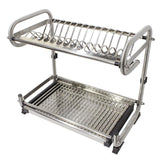 Purchase probrico dish rack 2 tier 304 stainless steel dry shelf kitchen dishes bowls holder tidy stacking shelf 23 6 inch width