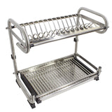 Save probrico dish rack 2 tier 304 stainless steel dry shelf kitchen dishes bowls holder tidy stacking shelf 23 6 inch width
