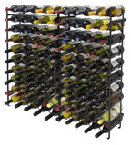 Exclusive sorbus display rack large capacity wobble free shelves storage stand for bar basement wine cellar kitchen dining room etc black height 40 100 bottle