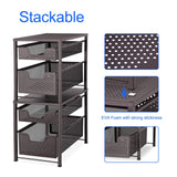 Best seller  simple trending 2 tier under sink cabinet organizer with sliding storage drawer desktop organizer for kitchen bathroom office stackbale bronze