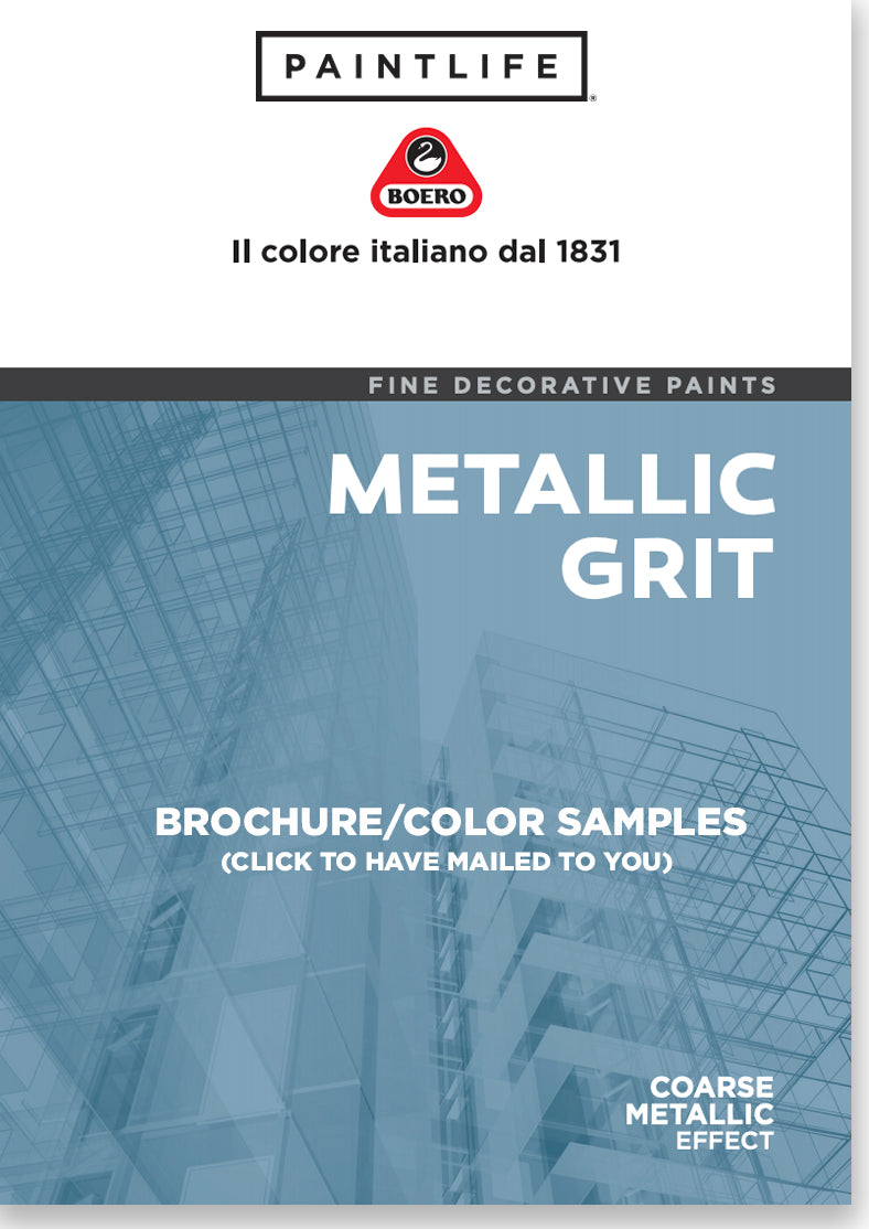 PaintLife's Boero Free Brochure for Metallic Grit