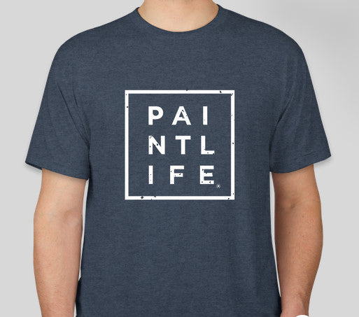 Indigo Blue PaintLife Tee - Next Level Tri Blend