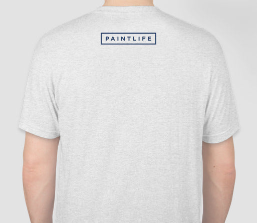 White PaintLife Tee - Next Level Tri Blend