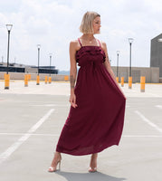 ON MY MIND DRESS - Burgundy