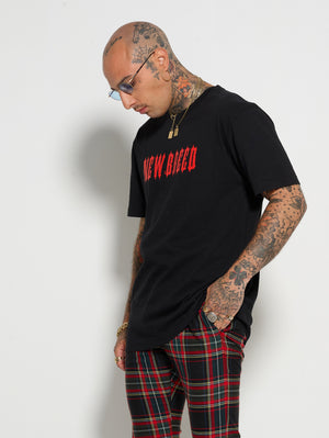 Black Red Core Tee