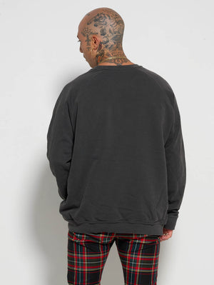 Vintage Black Crew Neck Jumper