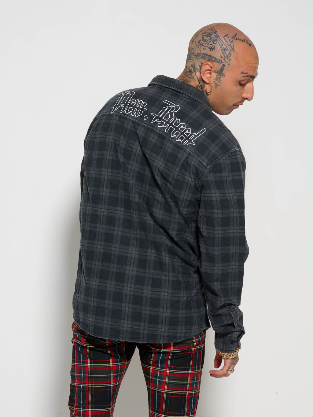 Vintage Black Flannel