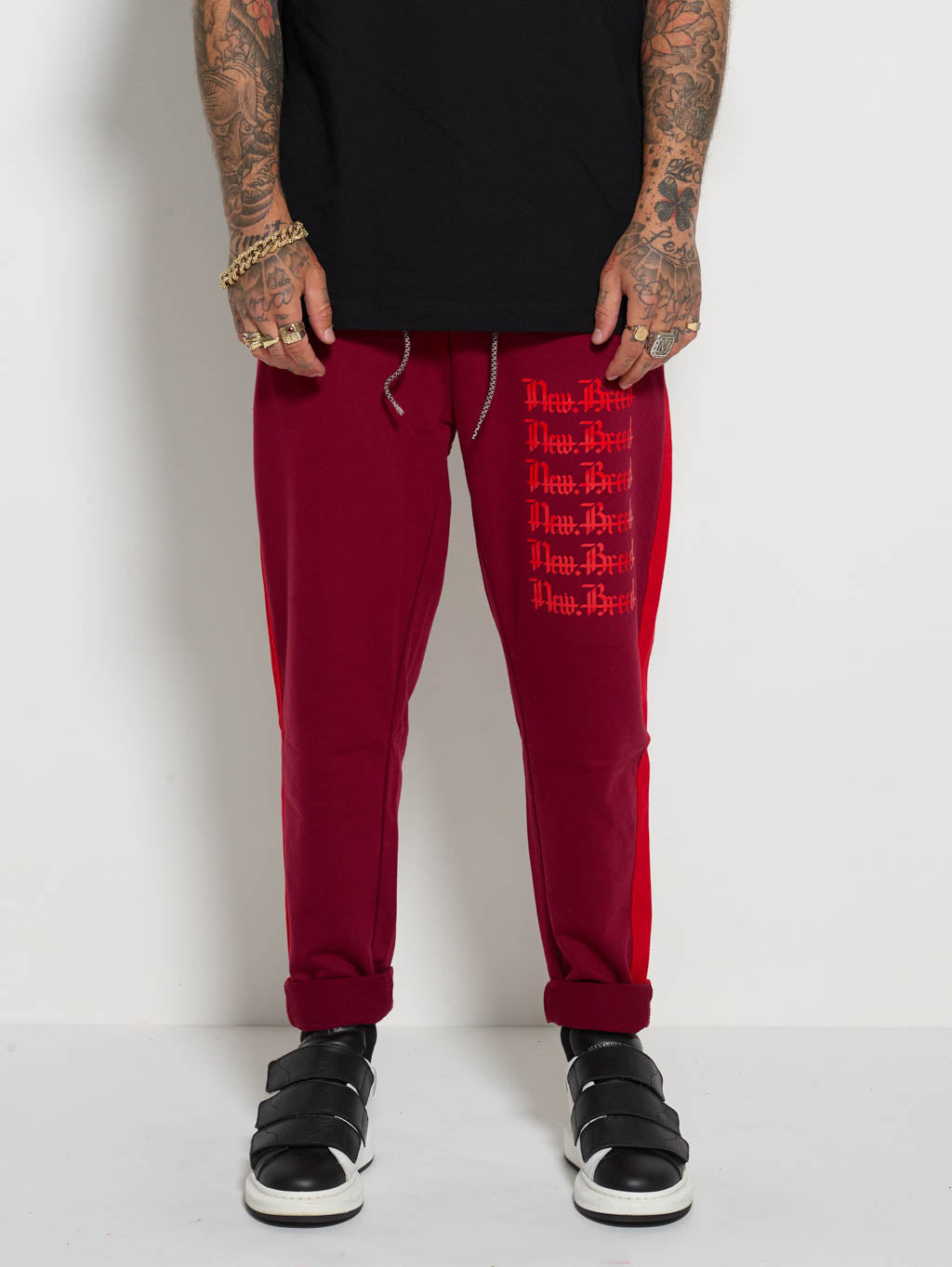 Red Stencil Track Pants