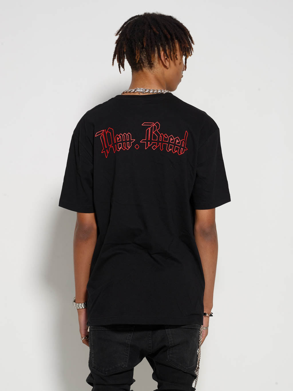 Black Red Crucifix Tee