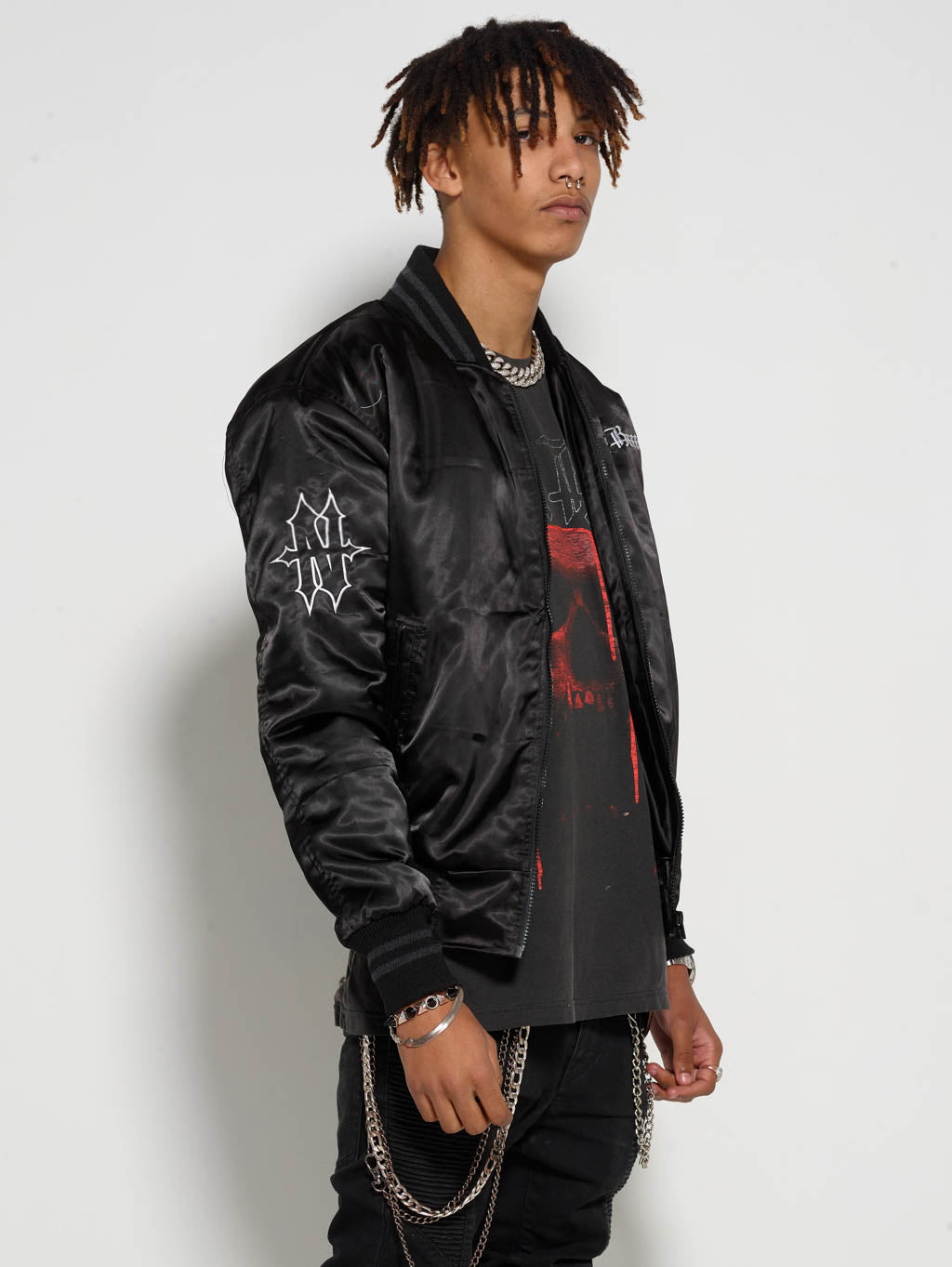 Black on Black Bomber Jacket