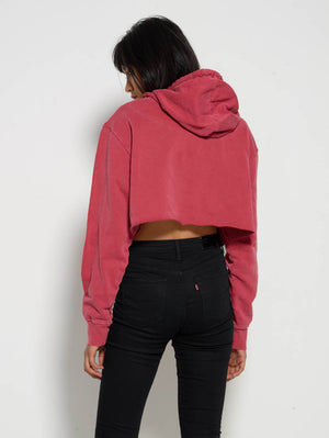 Red Core Crop Hood