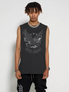 Faded Black Bold Eagle Tank