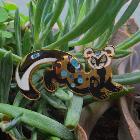 BACKORDER: Marbled Polecat Pin