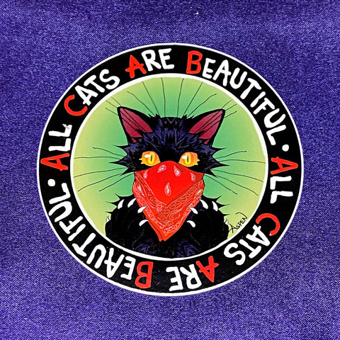 All Cats Are Beautiful Sticker