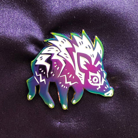 Javelina Rainbow Pin