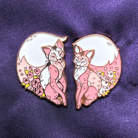 Foxy Valentine Pin Set [ships late January/early February]
