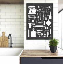 Laden Sie das Bild in den Galerie-Viewer, Fox & Poet Poster 'Kitchen Love'