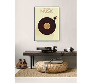 Poster Listen to the music 30 x 40