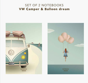 Notizbuch 2er Set CAMPER und BALLOON DREAMS