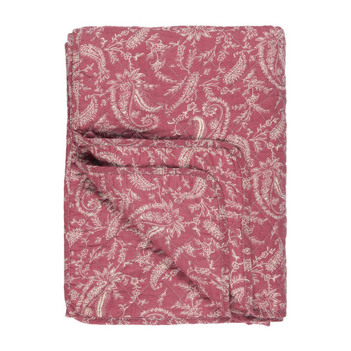 Quilt rosa mit Paisley Muster